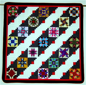 Beautiful 9-Patch Star Quilt