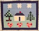 Home Among Love and Stars- Sandwiched top and partly quilted - FOR SALE $75.00