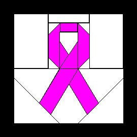 Paper-Pieced Pink Ribbon