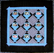 Amish Baskets Miniature Paper-Pieced Quilt