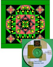 Carol Doak Paper-Pieced Anniversary Mystery Pattern CD- NEW