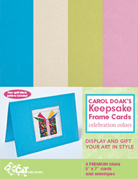 Carol Doak`s Keepsake Frame Cards—Celebration Colors-ON SALE!