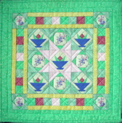 Country Baskets Miniature Paper-Pieced Quilt