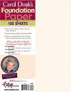 Carol Doak`s Foundation Paper- Domestic USA orders only please