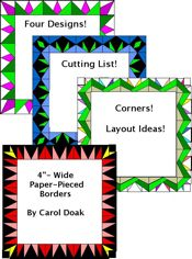 "4""-Wide Paper-Pieced Borders - NEW!!!"