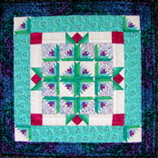 Log Cabin Garden Miniature Paper-Pieced Quilt
