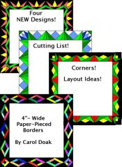 "MORE -4""-Wide Paper-Pieced Borders - NEW!!!"