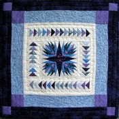 Mariner`s Compass Paper-Pieced Miniature Quilt -ON SALE!