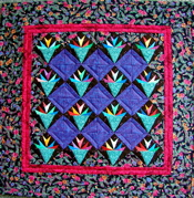 Little Nosegays Miniature Paper-Pieced Quilt