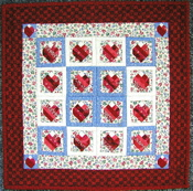 Scrap Hearts Miniature Paper-Pieced Quilt