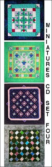 Paper-Pieced Miniature Quilts CD- Set Four