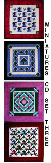 Paper-Pieced Miniature Quilts CD- Set Three