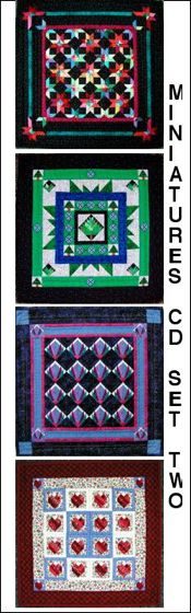 Paper-Pieced Miniature Quilts CD- Set Two