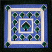 Shade Trees Miniature Paper-Pieced Quilt -ON SALE!