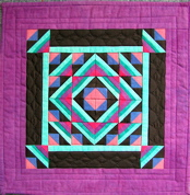 Simply Solids Miniature Paper-Pieced Quilt
