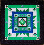 Tree of Life Medallion Miniature Paper-Pieced Quilt - ON SALE!