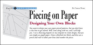 Designing Your Own Paper-Pieced Blocks