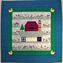 Down on the Farm -HAND QUILTED- FOR SALE $175