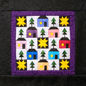 The Little Village Miniature Quilt