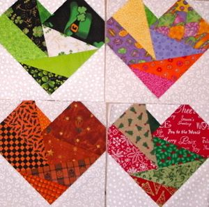 Free Heart Quilt Block Patterns : Free Quilt, Craft and Sewing Patterns: Links and Tutorials *With Heart and Hands*: Free Heart ...
