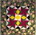 Star Medallion Rose -HAND QUILTED - FOR SALE $75.00