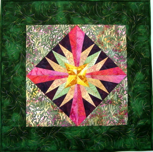 Sunrise Quilt Mariner`s Compass Stars