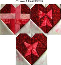 "Have-A-Heart Block Designs In A 6"" size"