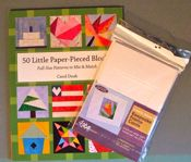 50 Little Paper-Pieced Blocks Book and Keepsake Cards Bundle-ON SALE!!!! SAVE!!