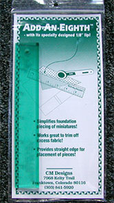 "6"" Add-An-Eighth Ruler-HALF PRICE"