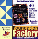 Companion CD for 40 Bright & Bold Paper-Pieced Blocks - PC Version and MAC OS X Version