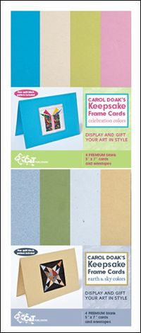 Carol Doak`s Keepsake Frame Cards-Celebration Colors & Earth & Sky Colors-ON SALE FOR A LIMITED TIME SAVE! $11