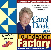 Foundation Factory: Carol Doak Designer Edition - PC and  Mac OS X Version