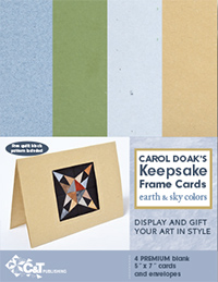 Carol Doak`s Keepsake Frame Cards-Earth & Sky Colors-SAVE $3.95