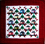 My Little Town Miniature Paper-Pieced Quilt-CLOSEOUT SALE!