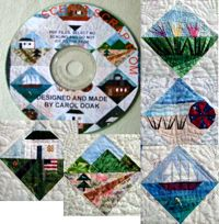Scenic Scrap Block of the Month CD - Introductory Sale on Now!