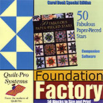 Companion CD for 50 Fabulous Paper-Pieced Stars - PC Version and MAC OSX Version