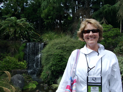 Beth Hayes, Editor-In-Chief, of McCall's Quilting enjoying the beauty.