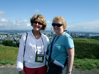 Beth and I am looking over the city of Auckland