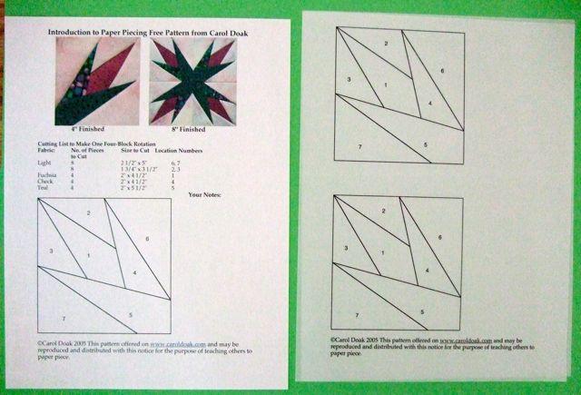 Carol Doak's Corner Blog Archive Paper Piecing The Carol Doak Enchanting Paper Piecing Patterns Free Printables