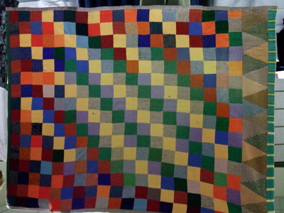 This was an early wool quilt.