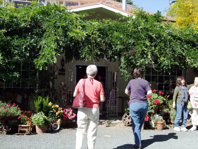 Heading into Grandmother's Garden Quilt Shop