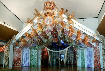 Maori building interpretation at Te Papa Museum