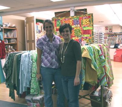 Melody and Holly at the Fabric Warehouse, Lakeland, FL