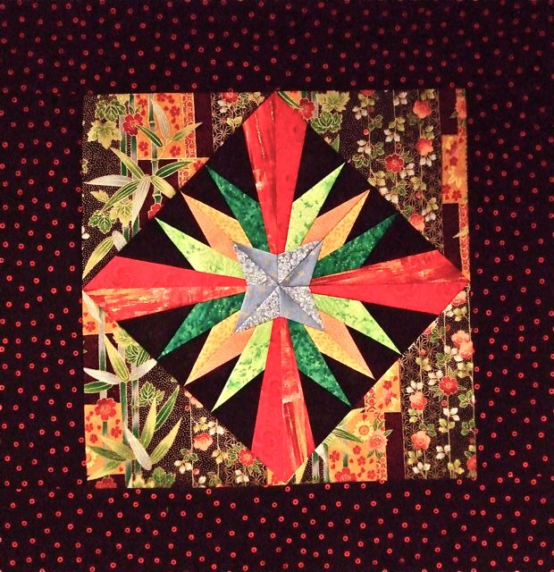 Sunrise made on The Quilt Show